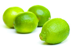 Isolated fruits - limes Stock Photos