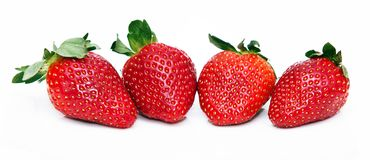 Isolated fruits - Strawberries Stock Photo