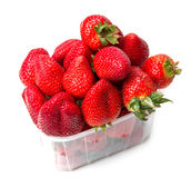 Isolated fruits, strawberries Stock Photos