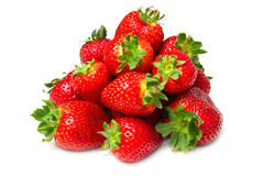 Isolated fruits, strawberries Stock Photo