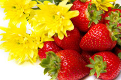 Isolated fruits, strawberries Stock Image
