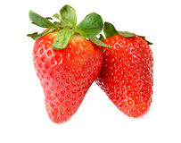 Isolated fruits - Strawberries Royalty Free Stock Photography