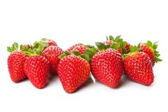 Isolated fruits - Strawberries Royalty Free Stock Photos