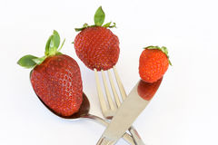 Isolated Fruits - Strawberries. On white background. This picture is part of the series perfecting macros Stock Photos