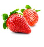 Isolated fruits - Strawberries. On white background. This picture is part of the series perfecting macros Stock Photo