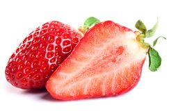 Isolated fruits - Strawberries Stock Images