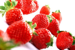 Isolated Fruits - Strawberries Royalty Free Stock Photo
