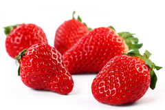 Isolated fruits - Strawberries Royalty Free Stock Images