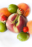 Isolated fruits on a table Royalty Free Stock Image