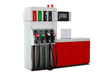 Isolated  fuel dispenser at the gas station Royalty Free Stock Photography