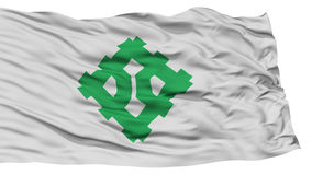 Isolated Fukui Flag, Capital of Japan Prefecture, Waving on White Background Stock Image