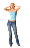 Isolated funny young woman Royalty Free Stock Image