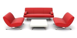 Isolated furniture set Royalty Free Stock Photo
