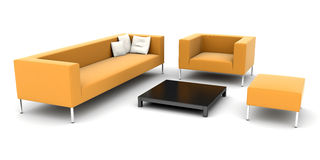 Isolated furniture set Royalty Free Stock Image