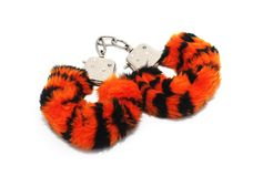 Isolated Furry Handcuffs Stock Photo