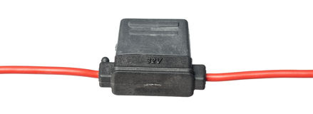 Isolated fuse holder Royalty Free Stock Image