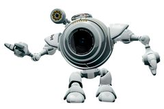 Isolated Futuristic Robot Royalty Free Stock Image