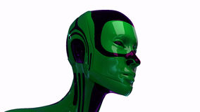 Isolated futuristic robotic head Royalty Free Stock Photography