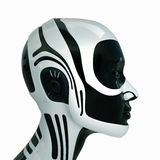 Isolated futuristic robotic head Royalty Free Stock Images