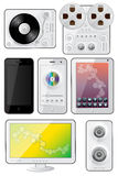 Isolated gadgets icons Royalty Free Stock Photography