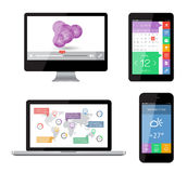 Isolated gadgets Stock Photography