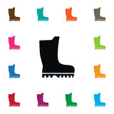 Isolated Galoshes Icon. Stock Images