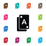 Isolated Gamble Icon. Poker Vector Element Can Be Used For Poker, Gamble, Casino Design Concept. Poker Vector Element Can Be Used For Poker, Gamble, Casino royalty free illustration