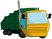 Stylized Isolated Garbage truck Royalty Free Stock Images