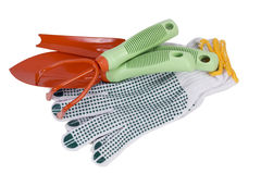 Isolated  gardening tools Stock Images