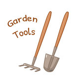 Isolated gardening tools icon Stock Images