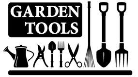 Isolated gardening tools Stock Photo