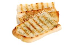 Isolated garlic bread Stock Photography