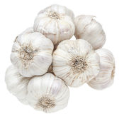 Isolated garlic bunch Royalty Free Stock Photo