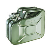 Isolated gasoline canister Stock Photography