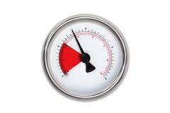 Isolated gauge. Gauge isolated on white background royalty free stock photography