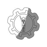 Isolated gear and businessperson design Royalty Free Stock Photos