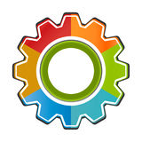 Isolated Gear Chart Icon. Eyecatching Gear Chart Icon  six  sided with center circle Stock Photo