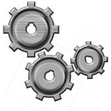 Isolated gears. Aabstract isolated mechanical gears mechanism vector illustration