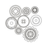 Isolated gears design Royalty Free Stock Photos
