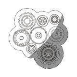 Isolated gears design Stock Photo