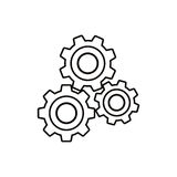 Isolated gears design Stock Photography