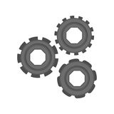 Isolated gears design Stock Image