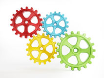 Isolated gears Stock Photography