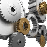 Isolated gears and pinions Stock Photography