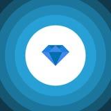 Isolated Gemstone Flat Icon. Carat Vector Element Can Be Used For Carat, Diamond, Gemstone Design Concept. Carat Vector Element Can Be Used For Carat, Diamond stock illustration