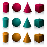 Isolated geometric objects Stock Photo