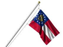 Isolated Georgia Flag Stock Image