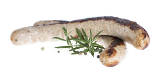 Isolated German Bratwurst Stock Photo