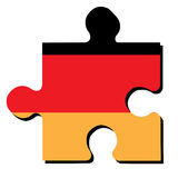 Isolated German flag Stock Images