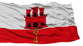Isolated Gibraltar Flag Royalty Free Stock Photo